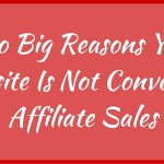 Two Big Reasons Your Website Is Not Converting Affiliate Sales