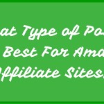 What Type of Posts Are Best For Amazon Affiliate Sites
