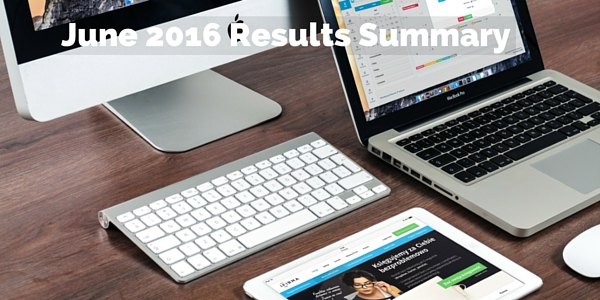 June 2016 Results Summary